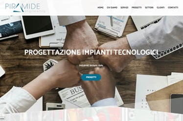 Sito web Piramide Engineering